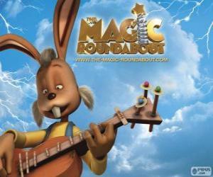 Puzzle de Dylan, el conejo que toca la guitarra