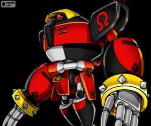 Puzzle de E-123 Omega, robot creado por el doctor Eggman