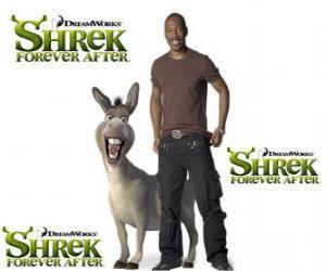 Puzzle de Eddie Murphy pone la voz a Burro o Asno, en la última película Shrek felices para siempre o Shrek para siempre