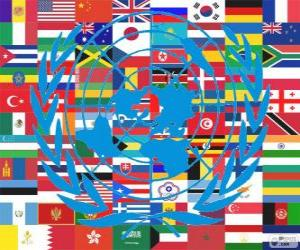 Puzzle de El 24 de octubre se celebra el Día de las Naciones Unidas, Día de la ONU, conmemorando su fundación en 1945