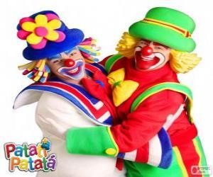 Puzzle de El abrazo de los payasos Patatí y Patatá