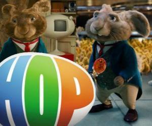 Puzzle de El actual Conejito de Pascua y padre de EB. Hop, la película o Hop: Rebelde sin Pascua