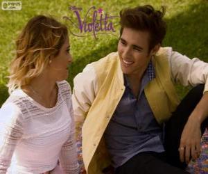 Puzzle de El amor de Violetta y Leon, Violetta 3