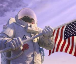 Puzzle de El astronauta Chuck Baker pisa el Planet 51 pensando que está deshabitado