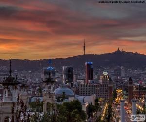 Puzzle de El atardecer en Barcelona