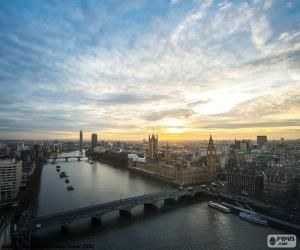 Puzzle de El atardecer en Londres