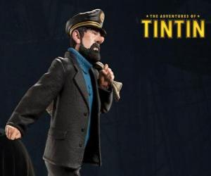 Puzzle de El Capitán Archibaldo Haddock es el mejor amigo de Tintín