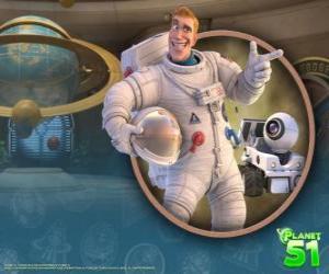 Puzzle de El capitán Charles Chuck Baker, junto a su robot Rover