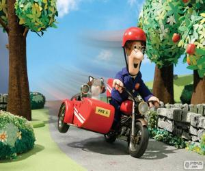 Puzzle de El cartero Pat con su motocicleta