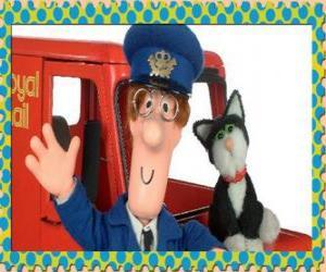 Puzzle de El cartero Patrick Clifton, Pat el cartero con Jess el gato