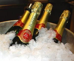 Puzzle de El champán (o champaña) del francés, champagne, es un tipo de vino espumoso elaborado conforme al método champenoise en la región de Champaña, Francia.