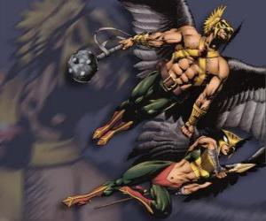 Puzzle de El Chico Halcón o Hawkmen y la Chica Halcón o Hawkgirl