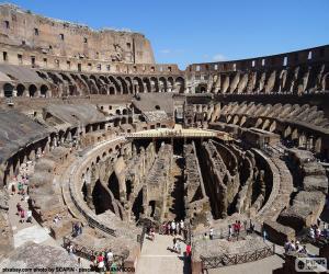 Puzzle de El Coliseo de Roma, gran anfiteatro donde tenían lugar las luchas de gladiadores