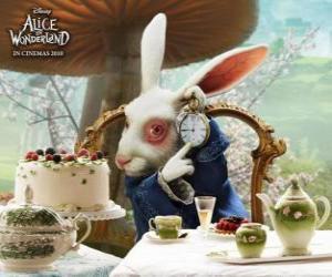 Puzzle de El Conejo Blanco siempre con prisas