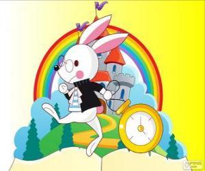 Puzzle de El Conejo Blanco siempre con prisa