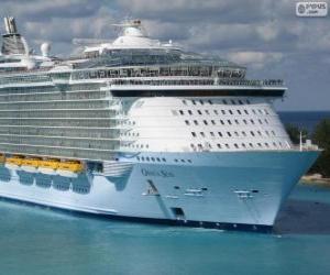 Puzzle de El crucero Oasis of the Seas, el más grande del mundo