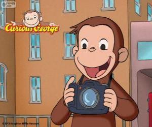 Puzzle de El curioso mono Jorge con una cámara de fotos