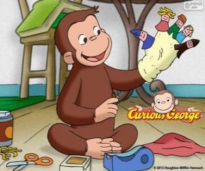Puzzle de El curioso mono Jorge hace titeres