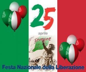 Puzzle de El Día de la Liberación, fiesta nacional de Italia que se celebra el 25 de abril