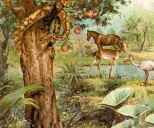Puzzle de El Demonio en forma de serpiente en el Árbol de la Ciencia del bien y del Mal