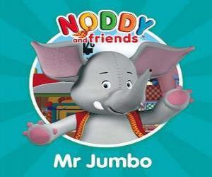 Puzzle de El elefante Sr. Jumbo