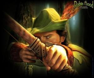Puzzle de El famoso arquero Robin Hood