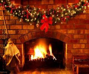 Puzzle de El fuego encendido durante Nochebuena
