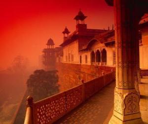 Puzzle de El Fuerte Rojo de Agra, India