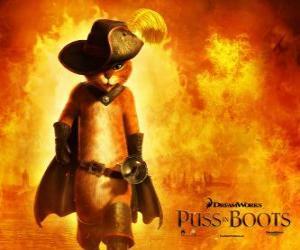 Puzzle de El Gato con Botas, el protagonista de la nueva película de DreamWorks