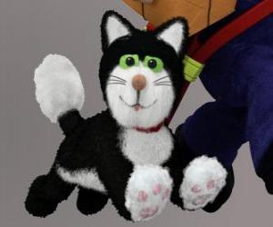 Puzzle de El gato Jess es un gato blanco y negro que siempre acompaña a Pat el cartero