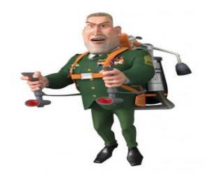 Puzzle de El General W. R. Monger haciendo el saludo militar