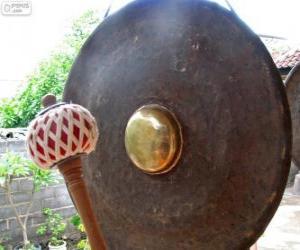 Puzzle de El gong, instrumento de percusión