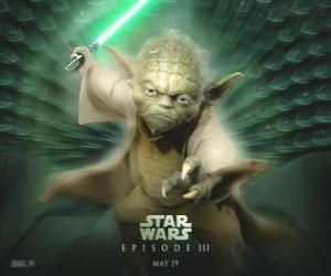 Puzzle de El gran maestro Yoda, uno de los maestros Jedi