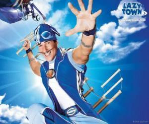 Puzzle de El héroe de LazyTown, el saludable deportista Sportacus