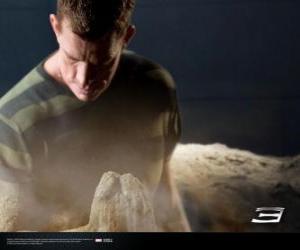 Puzzle de El Hombre de Arena, Sandman empieza el proceso de transformación de su cuerpo