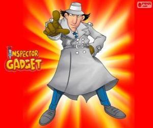 Puzzle de El Inspector Gadget va vestido como el famoso Inspector Closeau