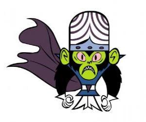Puzzle de El inteligente mono Mojo Jojo es el mayor enemigo de las hermanas Utonium o Utonio, las Powerpuff Girls