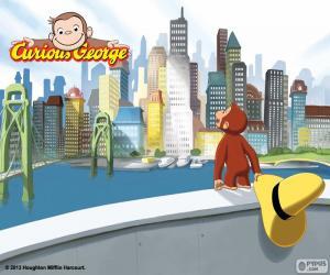 Puzzle de El mono Jorge y la ciudad