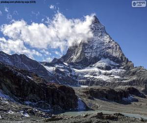 Puzzle de El monte Cervino, Suiza e Italia