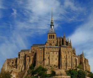 Puzzle de El Monte Saint-Michel es una isla rocosa de marea en la que hay una comuna francesa de la Normandia