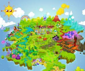 Puzzle de El mundo de los Moshi Monsters