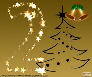 Puzzle de El número 2 de Navidad