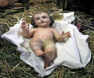 Puzzle de El Niño Jesús en el pesebre