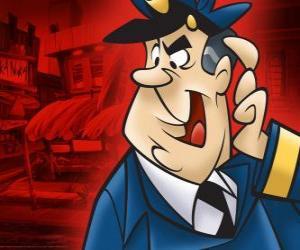 Puzzle de El Oficial Matute, el agente de policía que vigila el callejón de Don Gato y su pandilla