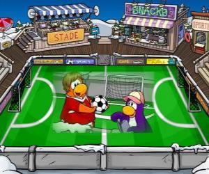 Puzzle de El partido de fútbol del Club Penguin