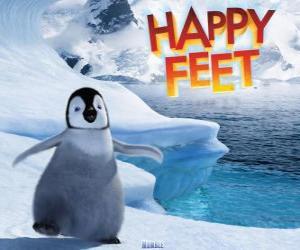 Puzzle de El pequeño pingüino emperador, protagonista de Happy Feet