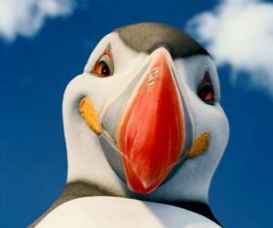 Puzzle de El Poderoso Sven, un frailecillo atlántico que puede volar