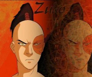 Puzzle de El príncipe Zuko está exiliado de la Nación del Fuego y quiere capturar al Avatar Aang para restablecer su honor