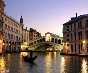 Puzzle de El Puente de Rialto, Venecia, Italia