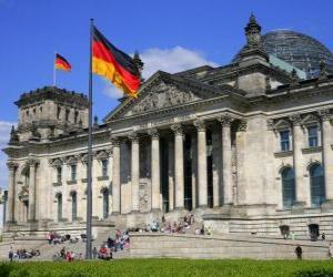 Puzzle de El Reichstag, Fráncfort, Alemania